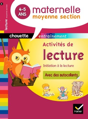 Activit??s de lecture Moyenne section 4-5 ans by Albert Cohen (2012-01-04)