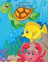 Livre de coloriage Vie marine 1