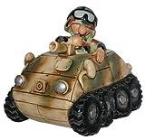 Lustige Spardose Auto Deko Soldat im Bundeswehr Panzerspaehwagen Fun Division Neu&OVP (Flecktarn)