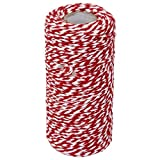 outflower 100 m Wrap Geschenk Baumwolle Seil Band Twine Rope Kordel dunkelblau, rot, 1,5 mm
