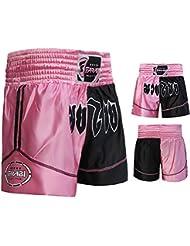 Muay Thai Boxing Kick Boxing Martial Arts Shorts Pink Black Shorts