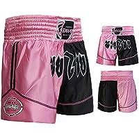 Pantalones Cortos para Boxeo, Artes Marciales, Muay Thai en Color Negro y Rosa, Talla Grande