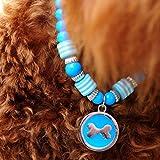 Kaitoshiratori Mode Haustier Hund Katze Halskette Tierzubehör Runde Knochen Anhänger Acryl Perlen Haustiere Hunde Katzen Halsband Schmuck