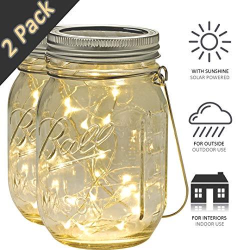 solarlampen für außen garten deko einmachgläser klein led solarleuchte garten glas solar lichterkette aussen lampions gartenleuchten windlicht glas gartenbeleuchtung laterne hochzeit camping licht - Led-vintage Laterne
