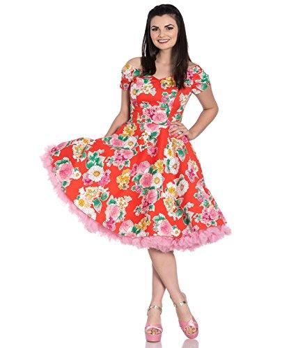 guerita Mid Dress 4807 (UK 12 (M), Orange) ()