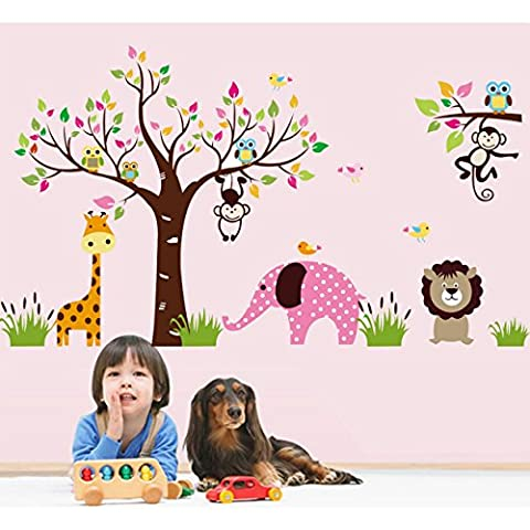 Tandi Kids Child Nurseries Baby Room Wall Decal Sticker Nursery Decorative Cartoon Cute Birds Aniamls