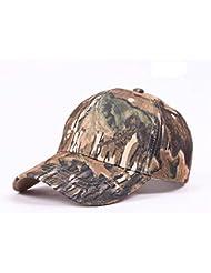elwow Hombre Camuflaje Jungla Woodland exterior Gorra, Gorra de caza, pesca sombrero con pico visera