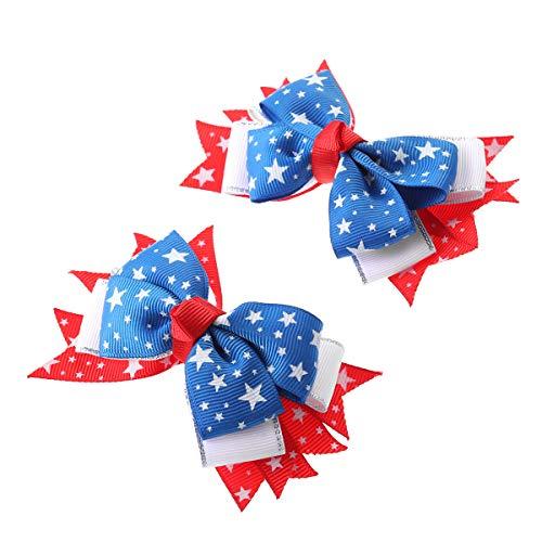 Amosfun 2 unids Bow Clips cocodrilo EE. UU. Bandera
