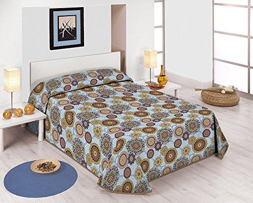Sabanalia - Colcha estampada Mandala (Disponible en varios tamaños) - Cama 135 - 230 x 280