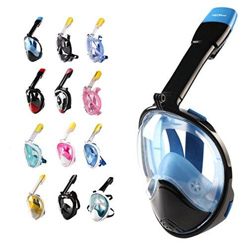 Full Face Schnorchel Maske W/180° Panorama View | Anti-Fog Linse, auslaufsicheres Siegel | eingebaute Schnorcheln, GoPro Mount | freie Atmung Unterstützung | Jugend und Erwachsene M NEOPine - ()