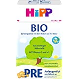 Hipp Milchnahrung Pre Bio, 4er Pack (4 x 600 g)