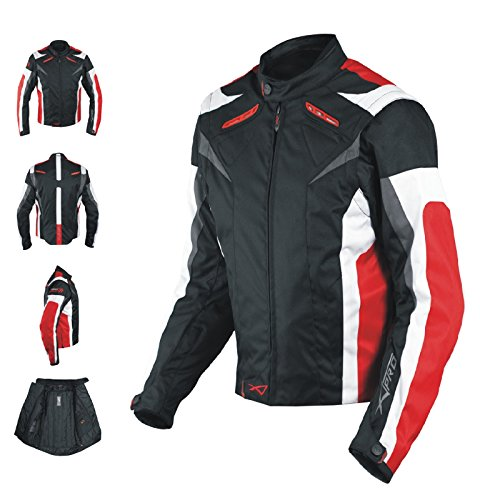 A-pro Ladies Textile Jacket Sport Racing CE Armour Thermal Vents Motorcycle Red M -