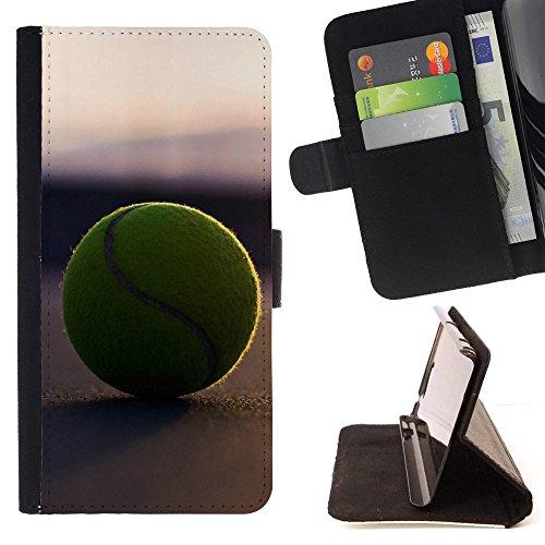 Graphic4You Tennis Ball Sport Brieftasche Leder Dünn Hülle Tasche Schale Schutzhülle für Samsung Galaxy Note 9 -