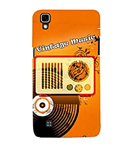 Radio Record Music 3D Hard Polycarbonate Designer Back Case Cover for LG X Power
