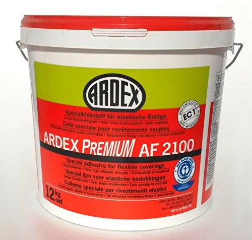 ARDEX AF2100 Spezialklebstoff für elastische Beläge 12kg, Dispersionsklebstoff zur Verklebung von Wand- und Bodenbelägen