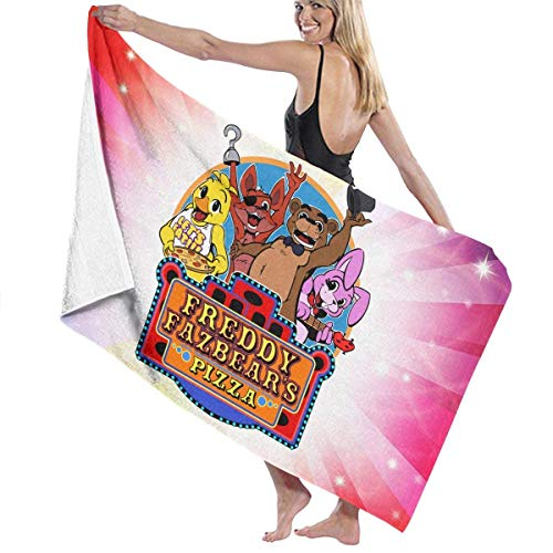 "Five Nights at Freddy's 'Freddie Fazbear's Pizza Large Beach Blanket Towel Ultra Soft Super Water Absorbent Multi-Purpose 31"" X 51"""