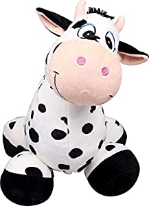 Inflate-a-mals INF-RO EU Ride On Cow, Color Blanco y Negro