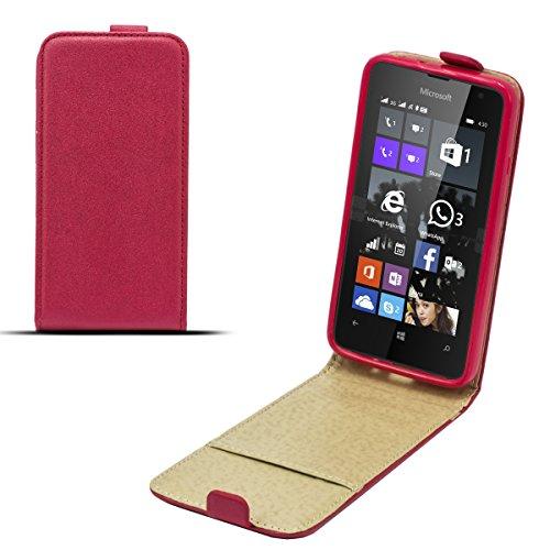 Moozy Magische Diamant Glanz Effekt Premium Shine Pocket dünne Flip Handy Tasche Microsoft 430 Lumia Vertikale Hülle Rot Tln