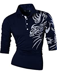 Polos à manches longues Jeansian Casual homme