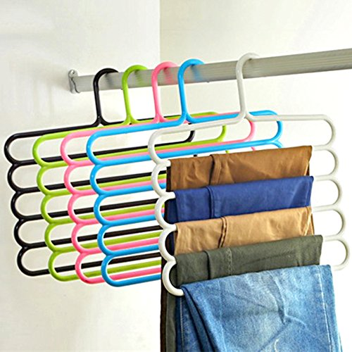 TiedRibbons Multilayer Multipurpose Hanger for clothes Wardrobe Trousers jeans pants girls dresses...