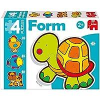 Diset - Baby Tortuga, 4 puzzles de 2, 3, 4 y 5 piezas (69948)