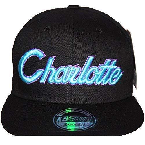 KB Ethos Charlotte Casquettes Snapback, Rétro Vintage Ajustée Visière Plate Casquettes De Baseball