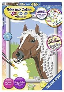 Ravensburger Pferd Kit de Pintura por números - Libros y páginas para Colorear (Kit de Pintura por números, 1 páginas, Niño, Niño/niña, 7 año(s), 13 cm)
