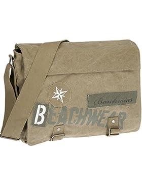 Messenger Tasche BEACHWEAR Kuriertasche Schultertasche Tasche Canvas /// Camel Sand Beige