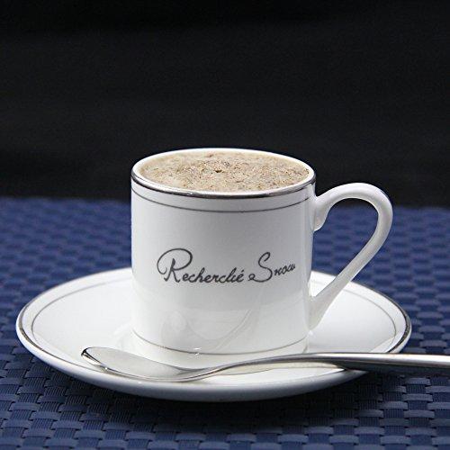 KHSKX La porcellana tazzine in Phnom Penh impostare bone china tazze tè caffè,Platinum rim