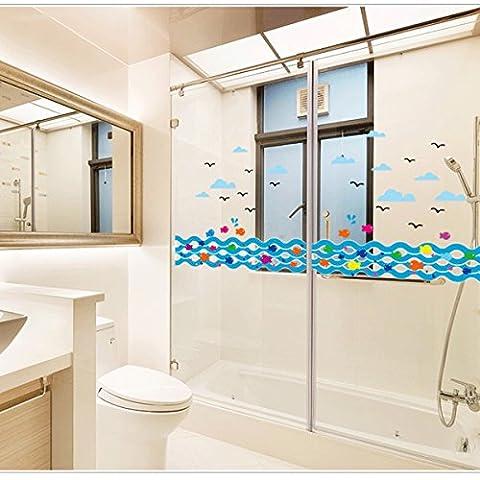 possbay poisson mer Sticker mural amovible décoration salle de bain maison Kid Salon Chambre en papier Art