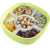 QFF Creativo a secco di frutta griglia Piatto Spuntino Storage Box secca Fruit Plate Box frutta Candy Box Fruit Bowl Grande ( colore : Verde )