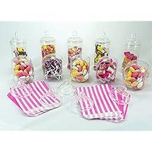 Paquete de fiesta Sweet Shop de Britten & James®. 10 frascos de plástico cristalino