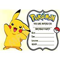 Pokemon Birthday Party Invites