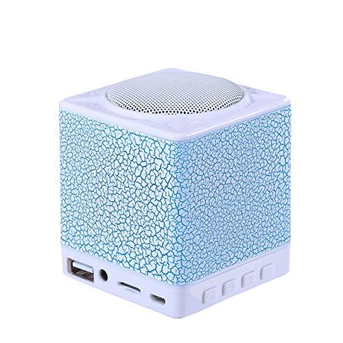 KAIFH Enceinte Bluetooth Haut-Parleur sans Fil Bluetooth Extérieur Portable Subwoofer Ordinateur Carte De Téléphone Mini Haut-Parleur Lumière De Nuit Brillante Petit Volume Grande Capacité HD,3