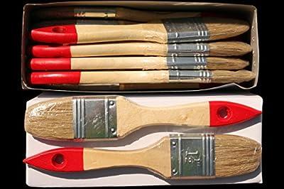 12 x Flachpinsel 35 mm Chinaborste hell Maler Lack Lasur Abwasch Allzweck Einweg Industrie Pinsel Lasurpinsel Lackpinsel