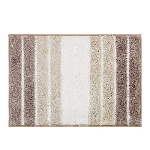 Furnily - Alfombrilla baño 100% algodón Suave Color