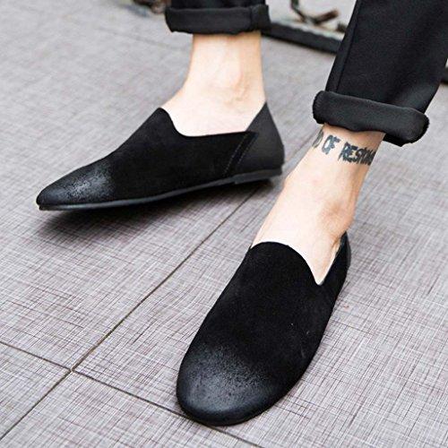ZXCV Scarpe all'aperto Summer Lazy Tide Scarpe Driving Shoes Soft Bottom Inghilterra Leisure Set of Feet Nero