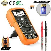 Multímetro Digital Aidbucks PM8233B Polimetro AC/DC Tester Electrico con Resistencia Tester Multi Tester con DMM voltímetro amperímetro ohmímetro con retroiluminación LCD