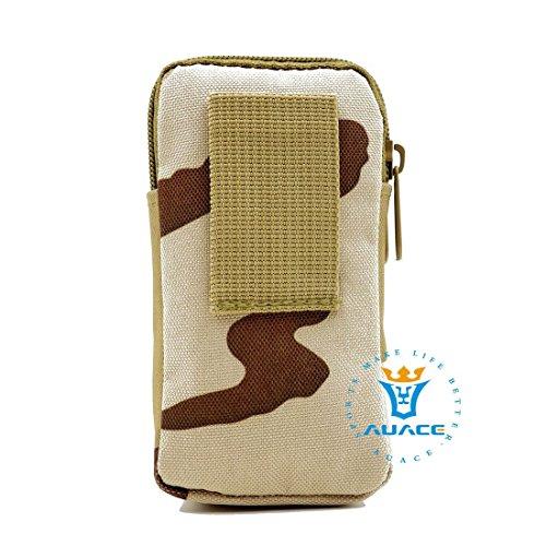 Multifunktions Survival Gear Tactical Beutel MOLLE Tasche zwei Schichten Military Handy Tasche, Outdoor Camping Tragbare Travel Bags Handtaschen Werkzeug Taschen Taille Tasche Handytasche DCU