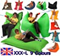 XXX-L 3-in-1 Outdoor Beanbags Big Brother Beanbag BLACK Indoor & Outdoor use