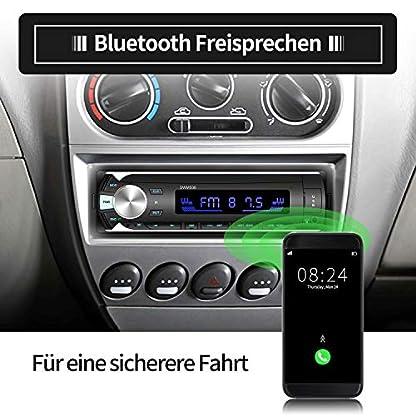 Autoradio-mit-Bluetooth-Freisprechung-ODLICNO-MP3-Autoradio-mit-Fernbedienung-7-Beleuchtungsfarben-LCD-Bildschirm-Single-Din-Universal-Stereo-Autoradio-AUX-TF-USB-FM-Mikrofon-MP3-Player-Empfnger