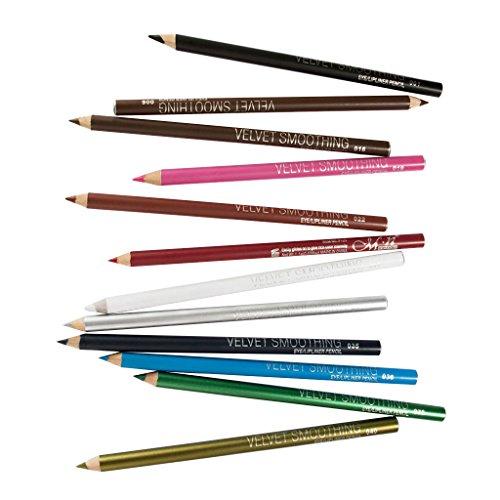 Fenteer 12pcs Multifunktional Makeup Kajal Stift Eyeliner Pencil