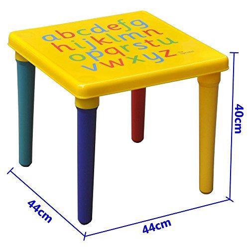 Popamazing Möbelset für Kinder, zum Alphabetlernen, ABC-Tisch und -Stuhl