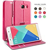 Coque Samsung Galaxy A3 (2016), TheBlingZ.® Housse Etui Cuir PU Coque pour Samsung Galaxy A3 (2016) - Rose