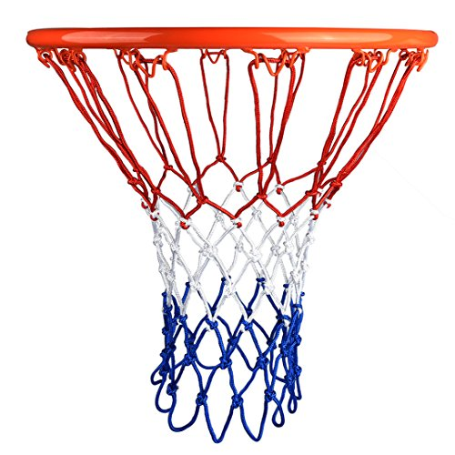 HOGAR AMO 2pcs Profi Basketball Netz Set 4mm Nylon Basketball Ersatz Netz Dauerhaft Ballnetz Für Standard Größe BasketballKorb 12 Loch Ersatznetz für Outdoor Sports Training