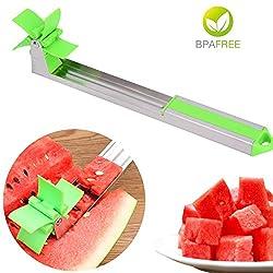 Wassermelonen-Schneider, Wassermelonen-Schneidwerkzeug, Edelstahl, Windmühle, Melonen-Schneider