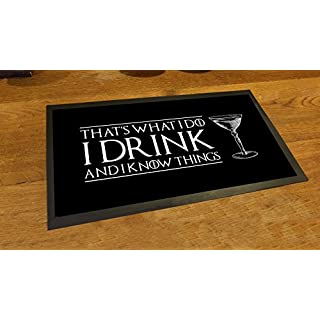 Artylicious I Drink and I know things Game of thrones bar pub mat runner counter mat