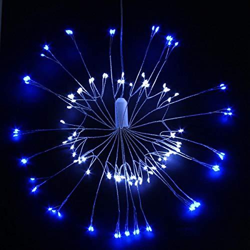 KOBWA Lumière de feu d'artifice, 150 LED de fée à Piles avec la lumière de Starburst Suspendue à télécommande, décoration de lumières de Forme de Bouquet pour Jardin, Patio, pièce, Mariage, fête