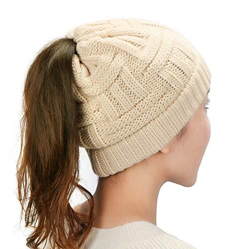 Dafunna Women Knit Hat Stretch C...