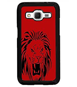 PrintDhaba Lion D-1960 Back Case Cover for SAMSUNG GALAXY CORE PRIME (Multi-Coloured)